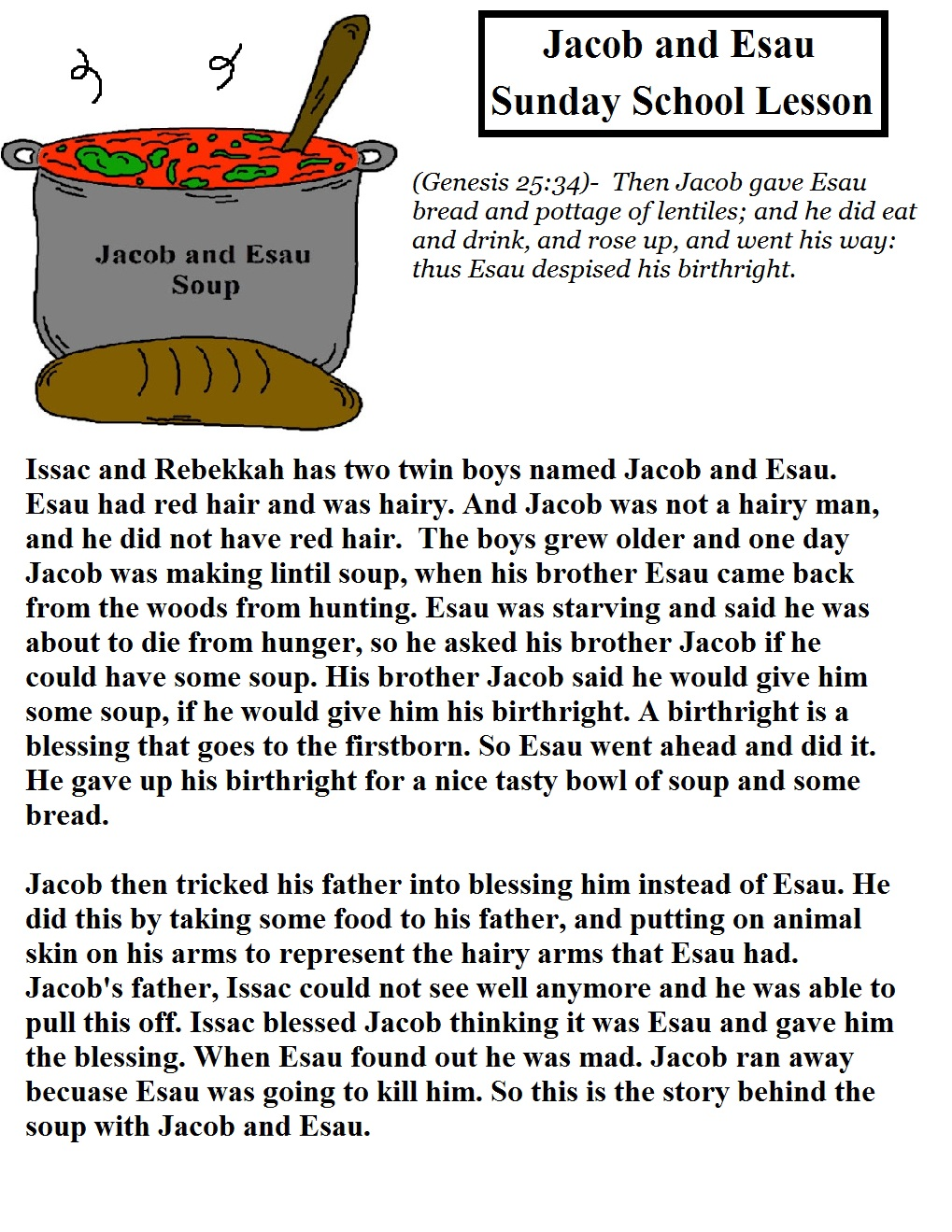 an analysis of the birthright of jacob and esau A list of our entire kids's collection of exercises, games, stories, and tours on isaac and rebekah and their sons jacob and esau this is an amazing resource for.