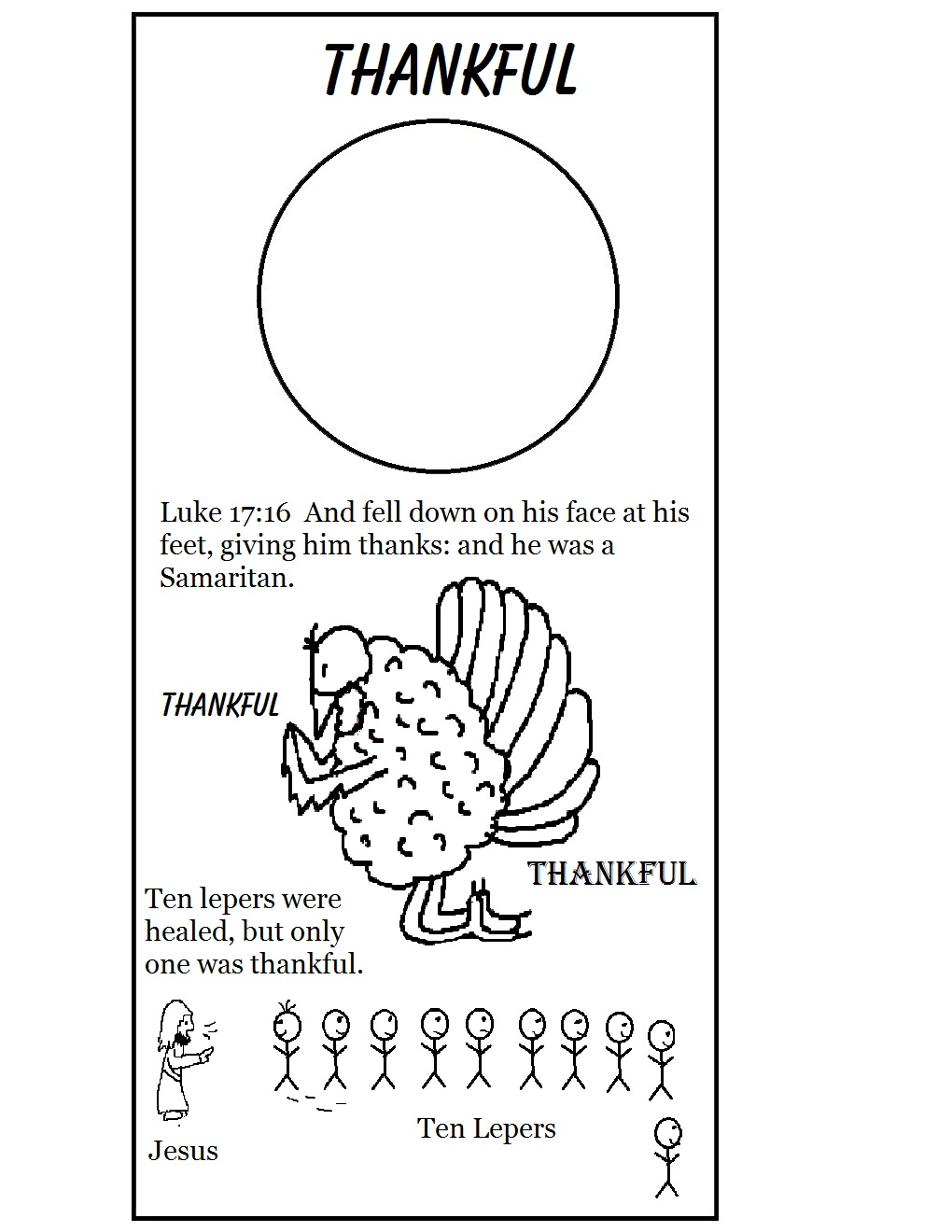 Free Leper Thanks Jesus Coloring Pages