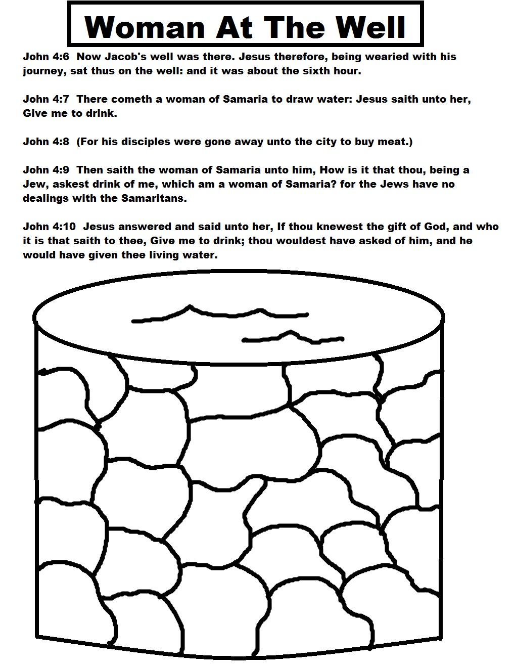 clipart jesus and the woman at the well - photo #25